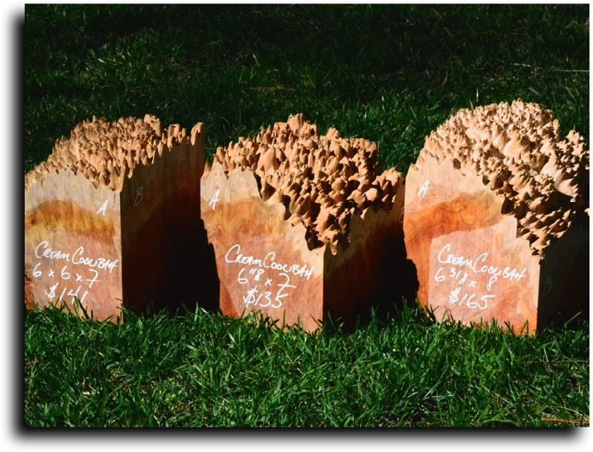AustralianBurls.com Products - Cut Blocks © 2018 Jim Syvertsen